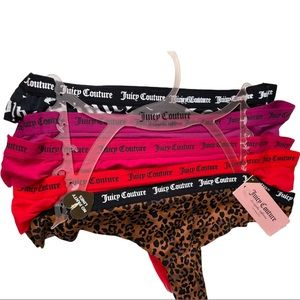 Juicy Couture Women's Thong Underwear assorted 5 pack NWT